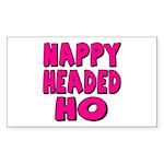 Nappy Headed Ho Pink Design Rectangle Sticker