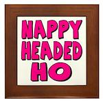 Nappy Headed Ho Pink Design Framed Tile