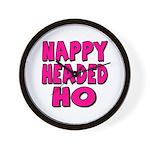 Nappy Headed Ho Pink Design Wall Clock