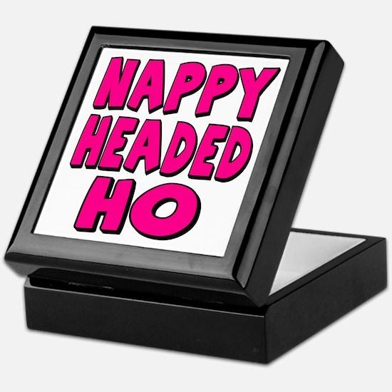 Nappy Headed Ho Pink Design Keepsake Box