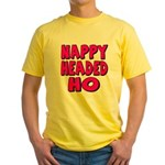 Nappy Headed Ho Pink Design Yellow T-Shirt