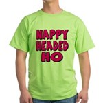 Nappy Headed Ho Pink Design Green T-Shirt