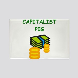 capitalist pig Magnets