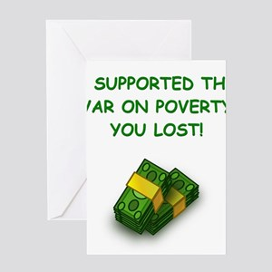 war on poverty Greeting Cards