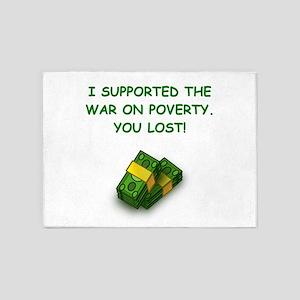war on poverty 5'x7'Area Rug