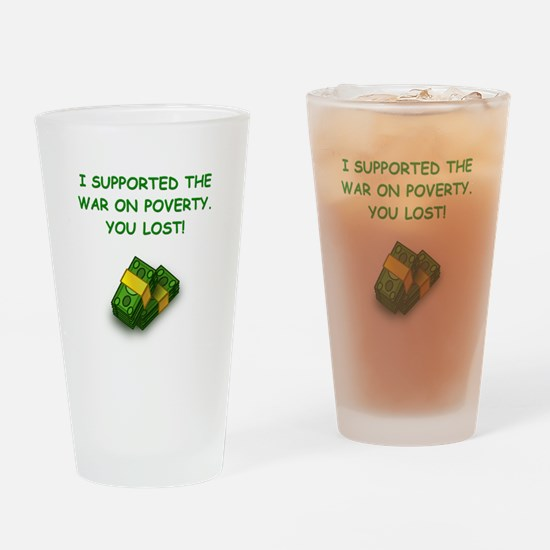 war on poverty Drinking Glass