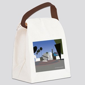 fountain scene in NoHo Canvas Lunch Bag