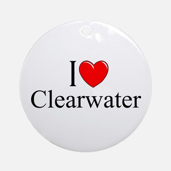 """""""I Love Clearwater"""" Ornament (Round)"""
