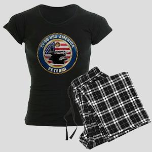 CV-66 USS America Women's Dark Pajamas