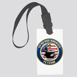 CV-66 USS America Large Luggage Tag