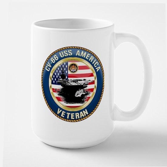 CV-66 USS America Large Mug