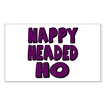 Nappy Headed Ho Purple Design Sticker (Rectangular