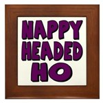 Nappy Headed Ho Purple Design Framed Tile