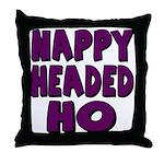 Nappy Headed Ho Purple Design Throw Pillow