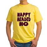 Nappy Headed Ho Purple Design Yellow T-Shirt