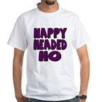 Nappy Headed Ho Purple Design White T-Shirt