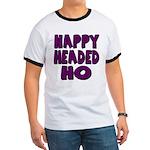 Nappy Headed Ho Purple Design Ringer T