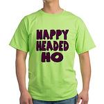 Nappy Headed Ho Purple Design Green T-Shirt