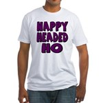 Nappy Headed Ho Purple Design Fitted T-Shirt