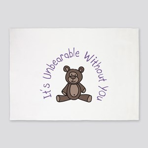 Its Unbearable Without You 5'x7'Area Rug