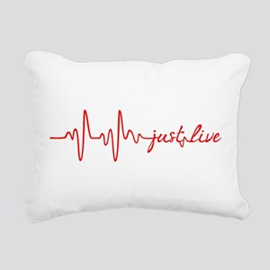 Just Live Rectangular Canvas Pillow