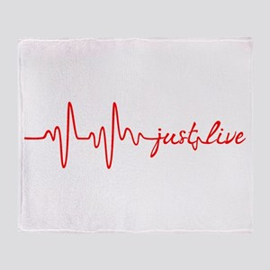 Just Live Throw Blanket