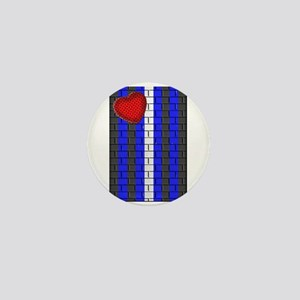 LEATHER PRIDE VERTICAL/BRICK Mini Button