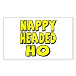Nappy Headed Ho Yellow Design Sticker (Rectangular