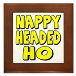 Nappy Headed Ho Yellow Design Framed Tile