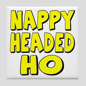 Nappy Headed Ho Yellow Design Tile Coaster