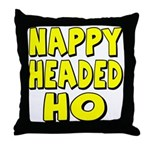 Nappy Headed Ho Yellow Design Throw Pillow
