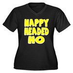 Nappy Headed Ho Yellow Design Women's Plus Size V-