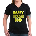 Nappy Headed Ho Yellow Design Women's V-Neck Dark