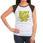 Nappy Headed Ho Yellow Design Women's Cap Sleeve T