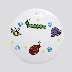 Insects And Bugs Ornament (Round)