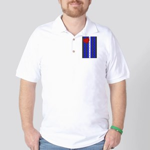 LEATHER PRIDE VERTICAL/BRICK Golf Shirt