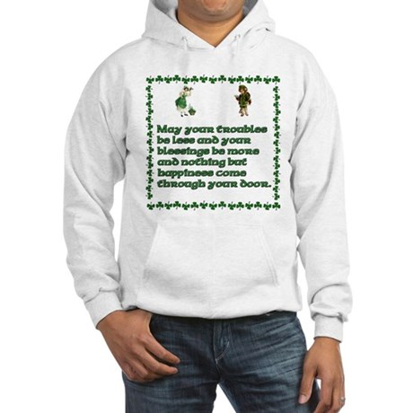 Irish Celtic blessings, sayin Hooded Sweatshirt
