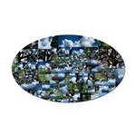 Summer day Oval Car Magnet