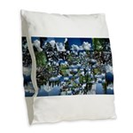 Summer day Burlap Throw Pillow
