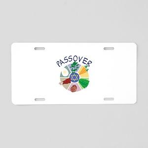 PASSOVER Aluminum License Plate