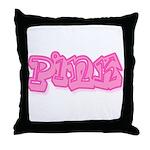 Pink (7) Throw Pillow