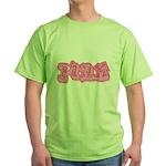 Pink (7) Green T-Shirt