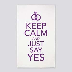 Keep Calm and Just Say Yes 3'x5' Area Rug