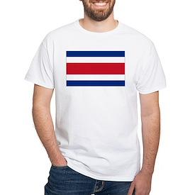 Costa Rica Flag White T-Shirt