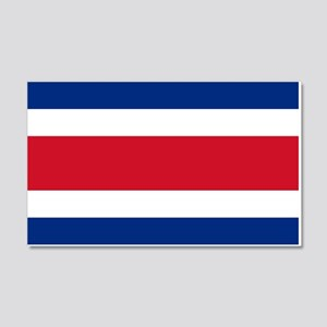 Costa Rica Flag 20x12 Wall Decal