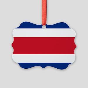 Costa Rica Flag Picture Ornament