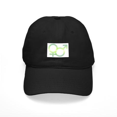 Male/Female Symbols Black Cap
