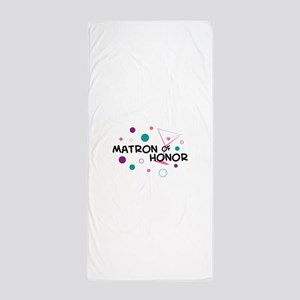 MATRON OF HONOR Beach Towel
