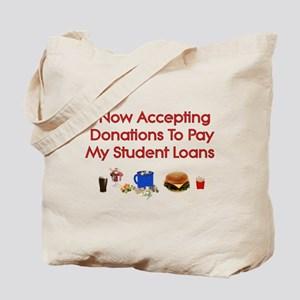 Student Loan Donations Tote Bag