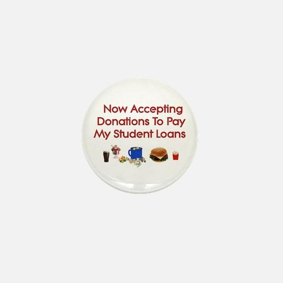 Student Loan Donations Mini Button